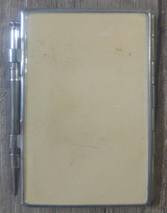 Coperta pentru carnetel/agenda si creion// perioada interbelica