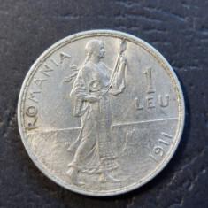 ROMANIA 1 LEU - 1911 (Argint)  (5)