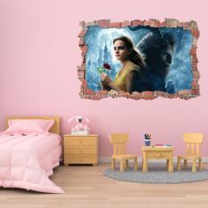 Sticker 3D perete, 60x90cm, Beauty and Beast
