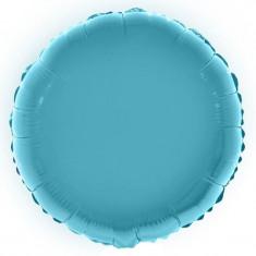 Balon folie 28 cm, culoare metalizata, forma rotunda culoare albastru