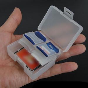 Mapă mini pentru card sd,microsd,capacitate 8 carduri,alb,din plastic