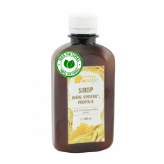 Sirop apiterapeutic cu miere, ginseng, propolis ApiLife 200 ml