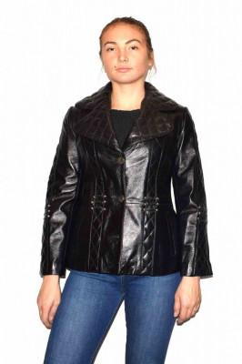 Haina dama, din piele naturala, marca Kurban, 15-01-95, negru S foto