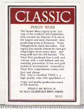 Etichete de vin - Classic - Pinot Noir - Valea Calugaresca