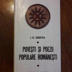 Povesti si poezii populare romanesti - I. G. Sbiera / C37P