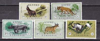 Etiopia  1966  fauna  MI  532-536  MNH  w60 foto