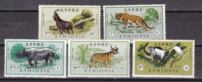 Etiopia  1966  fauna  MI  532-536  MNH  w60