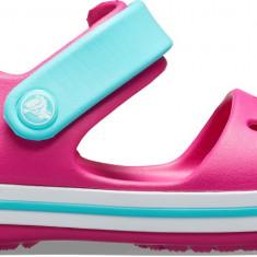 Sandale Copii pe apă Crocs Crocband Sandal Kids, 19.5, 20.5, 22.5, 29.5, 32.5 - 34.5, Roz