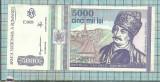 Bancnota 5000 lei 1993 seria E0028..547