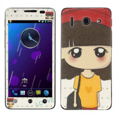 Sticker Decal Pretty Big Eyes Girl (MPS) pentru telefon Huawei Ascend G510 (U8951D)
