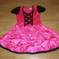 costum carnaval serbare rochie barbie printesa pentru copii de 7-8 ani