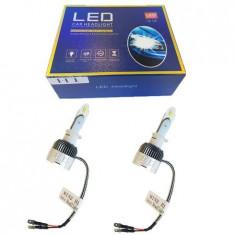 Set 2 becuri LED H1, 8000k, Ventilatie Automata, Fara Erori, Model 2019