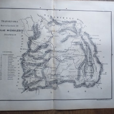 TRANSILVANIA // HARTA CROMOLITOGRAFIATA, 1904