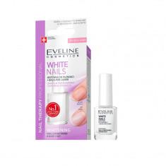 Tratament pentru unghii, Eveline Cosmetics, White Nails, 12 ml