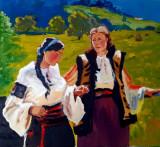 Pictura in ulei pe panza 50x60 cm, Peisaje, Impresionism
