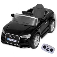 Mașină electrică Audi A3 cu telecomandă, negru