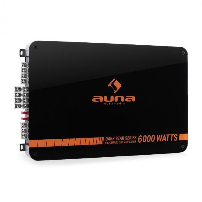 Auna DARK STAR 6000, 600 W, amplificator de putere cu 6 canale