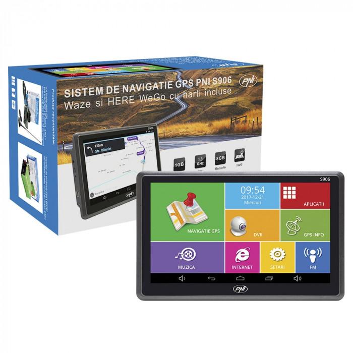 Resigilat : Sistem de navigatie GPS + DVR PNI S906 ecran 7 inch cu Android 6.0, ha