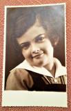 Portret de copil. Fotografie veche tip carte postala - Studio-Robert, Bucuresti