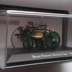 Macheta Benz Patent Motor Car 1886 - Altaya 1/43 Mercedes, 1:43