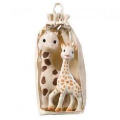 Set girafa Sophie din cauciuc natural si girafa din plus - Vulli