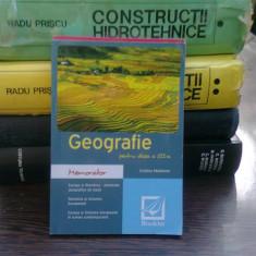 Geografie pentru clasa a XII-a - Cristina Moldovan (memorator)