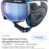 Casca Alpina Carat LE Visor HM nightblue/denim matt marime 51-55