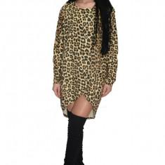 Rochie de zi cu imprimeu animal-print ,model petrecut, Din imagine, 36, 38, 40, 42, 44, 46