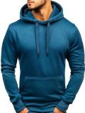 Bluză cu glugă pentru bărbat denim-deschis Bolf 2009