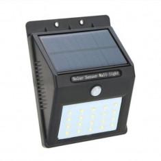 Lampa cu incarcare solara, 20 x LED, 1200 mAh, senzor miscare foto