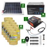 Pachet Gard electric 5J putere plus 10.000m de fir si Panou Solar