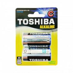 Set 2 baterii alkaline Toshiba R14