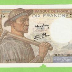 FRANTA 10 FRANCS / 1942.