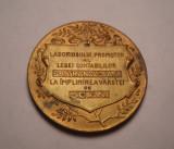 Medalie Gr Trancu - Omagiu Corpului Contabililor din Romania 1923 IASI
