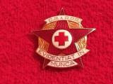 """Insigna """"Evidentiat in Munca"""" - Crucea Rosie - Medicina - RPR (numerotata)"""