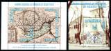 Romania 2003, LP 1607 + 1608, Muzeul Hartilor, bloc + colita, MNH! LP 21,10 lei, Istorie, Nestampilat