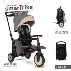 Tricicleta pliabila Smart Trike 7 in 1 STR5 Gri dotata cu frana si scaun rabatabil