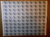 Coala 100 timbre supratipar Oradea, 4 bani, 1919, nestampilat