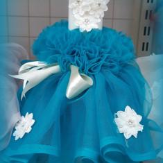Lumanare de botez pentru fetite si baietei - BLEUMARIN2483