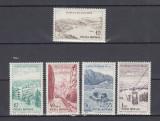 ROMANIA 1964  LP 585  PUNCTE  TURISTICE  LA MUNTE  SERIE MNH, Nestampilat