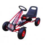 Cumpara ieftin Kart cu pedale Gokart 3-7 ani cu roti gonflabile G1 R-Sport - Rosu