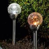 Cumpara ieftin Set de 2 lumini de gradina solare LED I-Glow