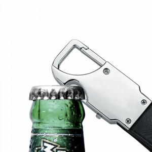 BRELOC chei AUTO de lux cadou / cadouri BARBATI din piele LED desfacator bere