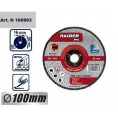 Disc pentru metal, scule pneumatice 100x6x16mm, Raider