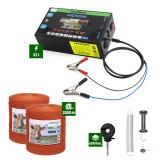 Pachet Gard electric Nexon pentru animale 3,1J putere plus 2000m de fir 80kg