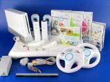 Set Wii modat+placa fitness+128Gb+2 manete+2 volane +2 huse cu 60 jocuri
