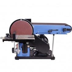 Masina de slefuit cu banda stationara si disc slefuitor GBTS 400 Guede 55135, 350 W, 1450 rpm foto