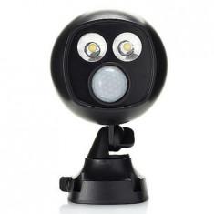Cumpara ieftin Proiector fara fir de exterior cu senzor de miscare, LED 450 lumeni, Night Hawk