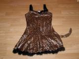 costum carnaval serbare animal pantera leopard pentru copii de 8-9-10 ani