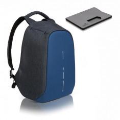 Rucsac laptop Bobby Compact Diver bleu navy antifurt + cadou